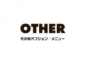 OTHER その他オプション・メニュー