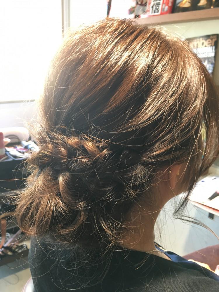 【編み込みシニヨン】結婚式お呼ばれヘアアレンジ