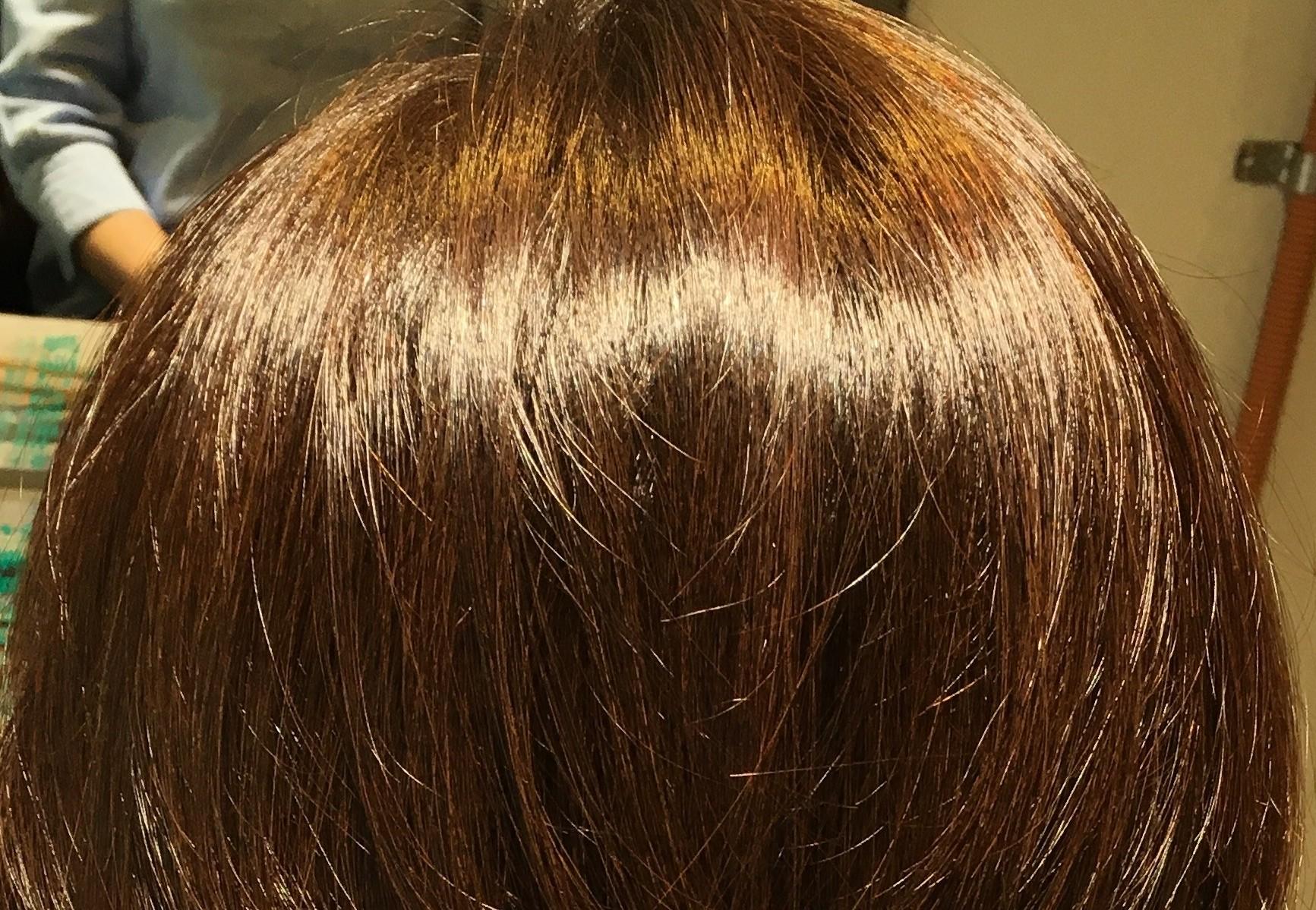 白髪染め、グレイカラー、つや、透明感