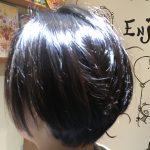 [綺麗なお姉さんシリーズ#2]ツヤのあるショートボブ、前髪なしでお姉さん度アップ↑